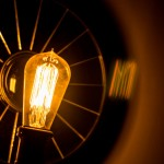 Business Creativity: Image is clear light bulb.