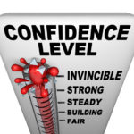 Confidence Beats Disdain Image is tower w/ invincible confidence at the top.