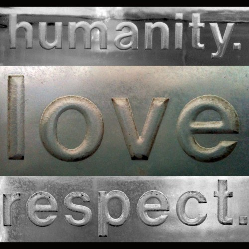 Respected Well-Liked Leaders: Plaque Says Humanity Love Respect
