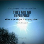 Leadership Influence: Image is poster saying everyone is an influencer.