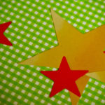 Positive People Skills Beliefs: Image is gold and red stars on green hatched background.
