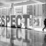 Rebuild Respect: Image is the word respect in a sculpture