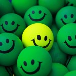 Are You Too Nice to Lead?; Image are smiley faces w/ one different color.