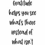 Leadership Gratitude Power: Image says Gratitude helps you see what's there instead of what isn't.