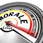 Lead Customer Service Morale: Image is a dial pointing to maximum morale