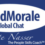 Lead Morale Global Chat: Image is #LeadMorale Chat Logo.