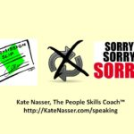 Pushing Boundaries: Image says don't repeatedly push others and apologize. Risky pattern.