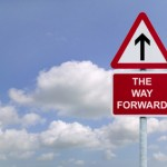 """Superior Customer Experience: Image is sign """"The Way Forward"""""""