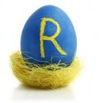 Super Customer Service People Skills: Image is Blue Egg w/ Letter R