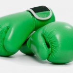 Workplace personality Conflicts: Image is boxing gloves.