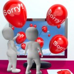Superior Customer Service: Image is Balloons w/ Sorry Words Celebrating!